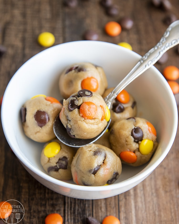 Peanut Butter Cookie Dough with reeses pieces and chocolate chips