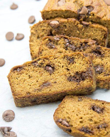 healthier pumpkin chocolate chip bread 5a