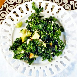 Kale sesame salad is a tasty way to eat to your health. Kale, cucumbers, green apples, feta cheese, sesame seeds with a honey vinaigrette all tossed together for deliciousness and healthiness.