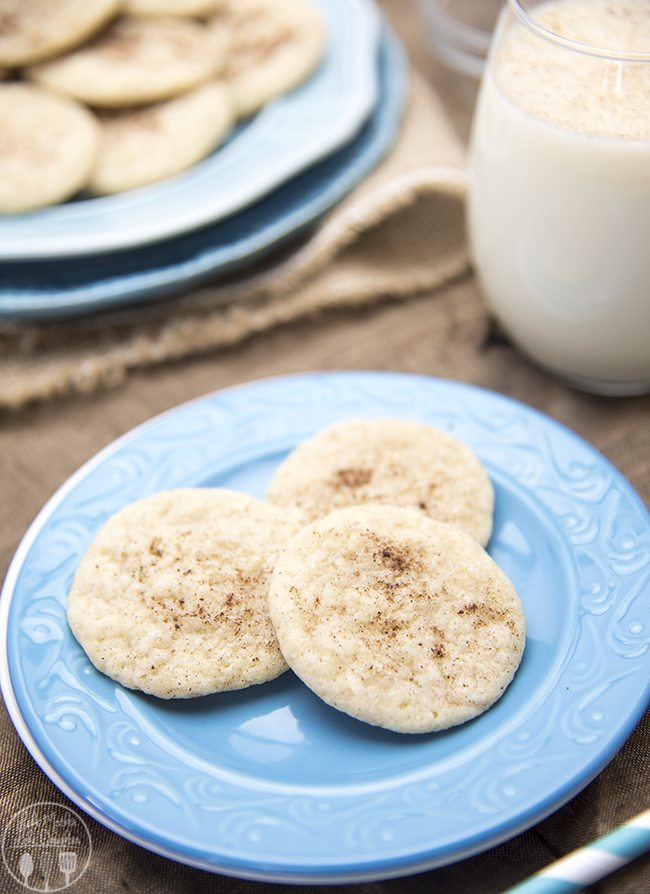 Egg nog cookies have the great taste of eggnog in a cookie! With eggnog, cinnamon and nutmeg these are a delicious seasonal cookie!