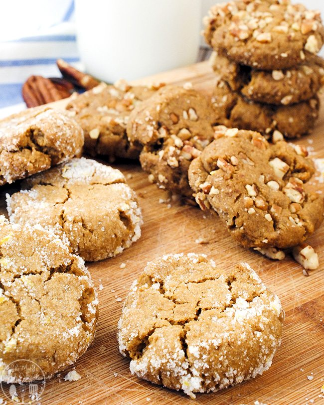 Orange Molasses Cookies - with the flavors of molasses, ginger, cinnamon, and orange zest come together for a delicious cookie!