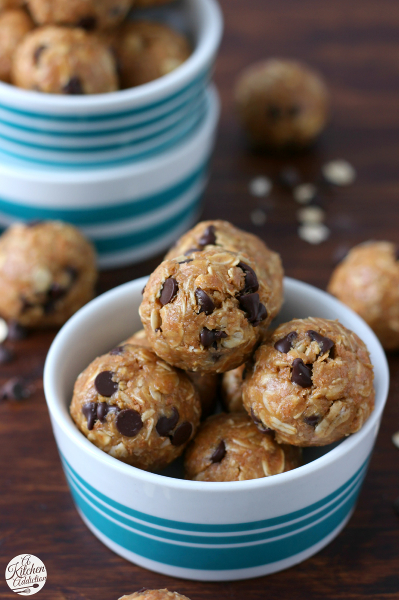 Peanut Butter Oatmeal Cookie Granola Bites with Watermark