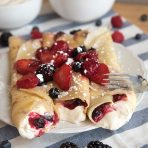 Berries and Cream Crepes