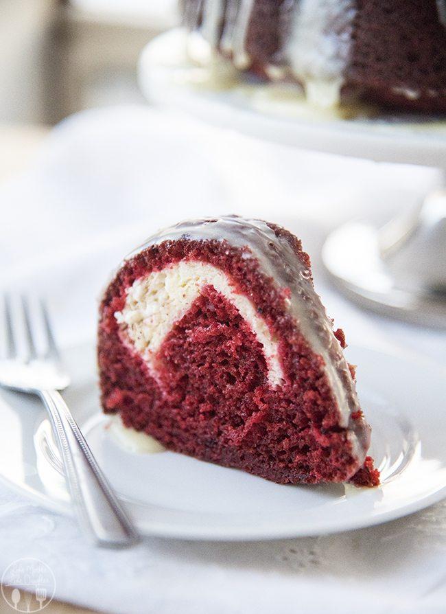 cream cheese stuffed red velvet cake 2