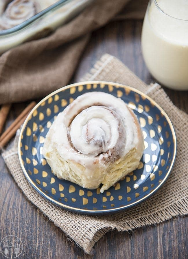 Eggnog cinnamon rolls are perfectly delicious! A soft gooey roll topped with an amazing eggnog glaze. Perfect for a holiday breakfast or dessert!