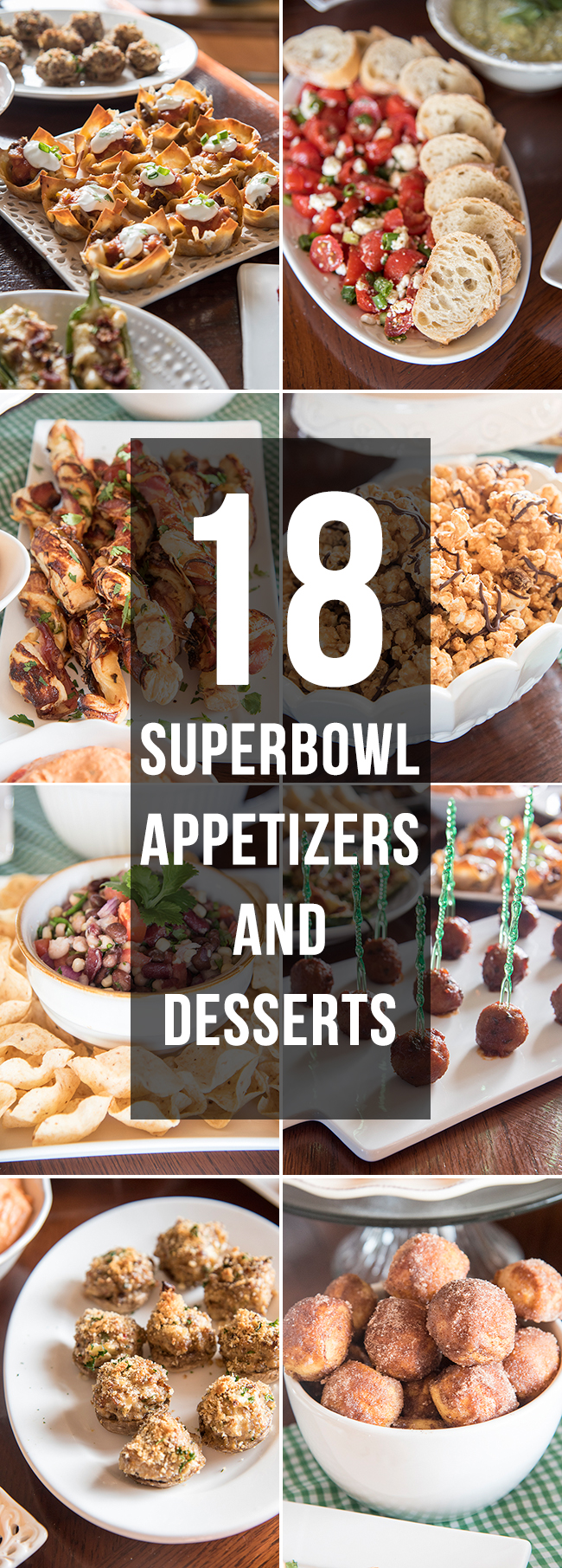 superbowl appetizers collage