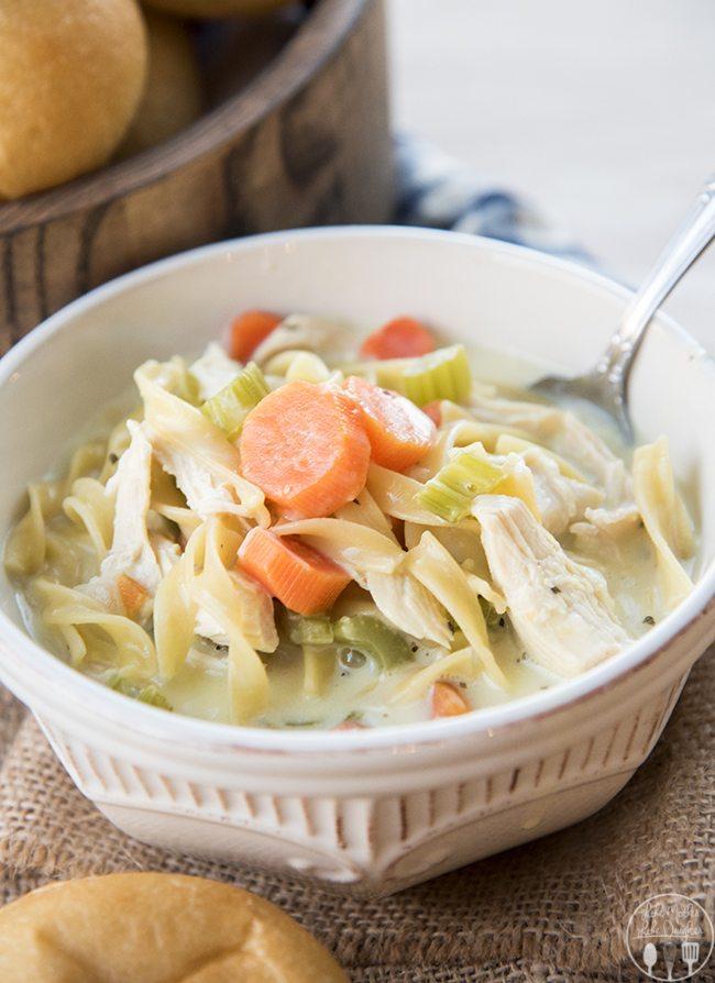 creamy chicken noodle soup 1