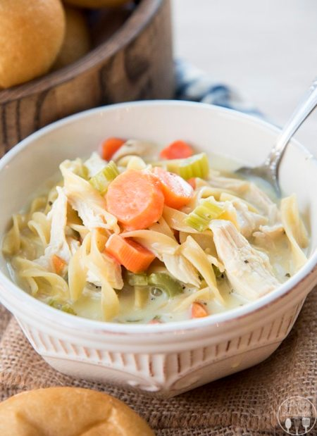 creamy chicken noodle soup 1