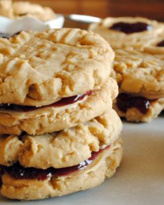 Your favorite sandwich is now a cookie in these PB & J Cookies, made with peanut buttercream frosting and jelly