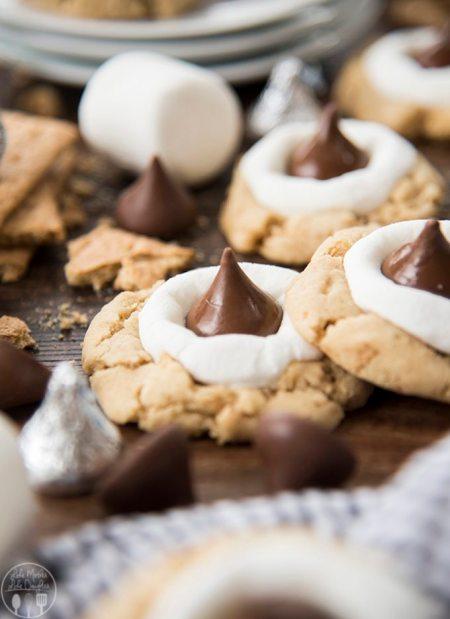 smores hershey kiss cookies 11