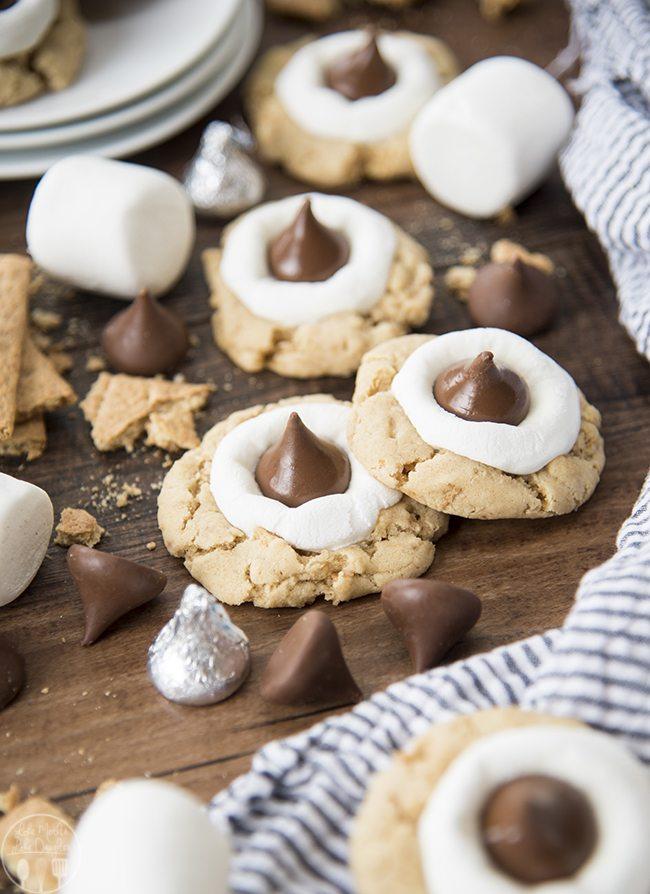 smores hershey kiss cookies 7b