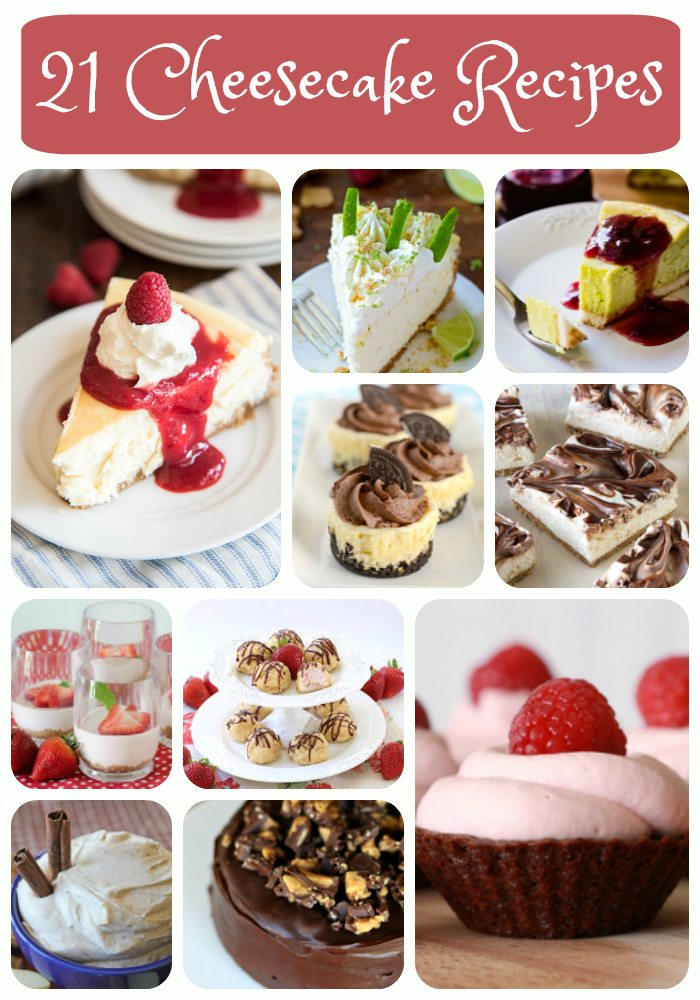 21 cheesecake recipes