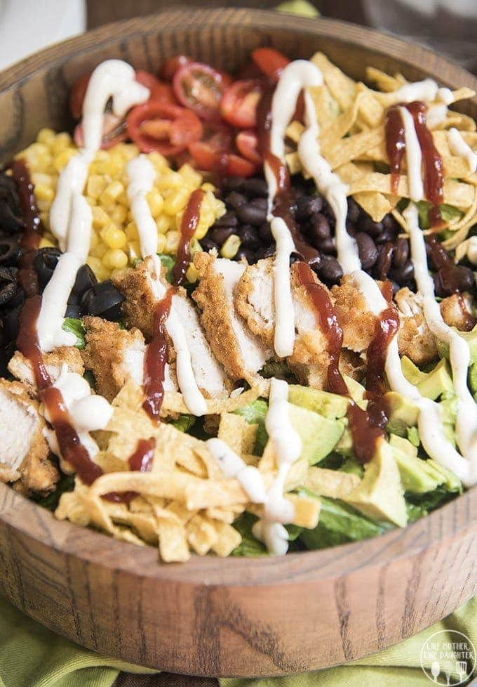 bbq ranch chicken salad 3