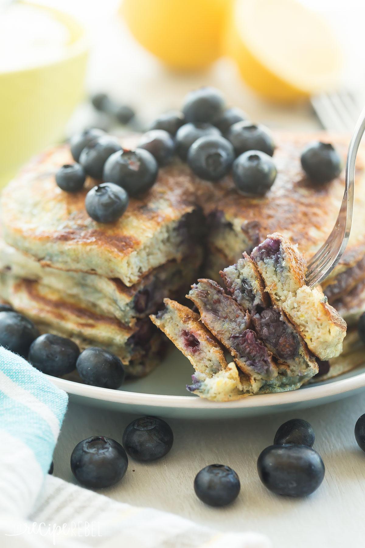 lemon-blueberry-greek-yogurt-pancakes-www-thereciperebel-com-7-of-9