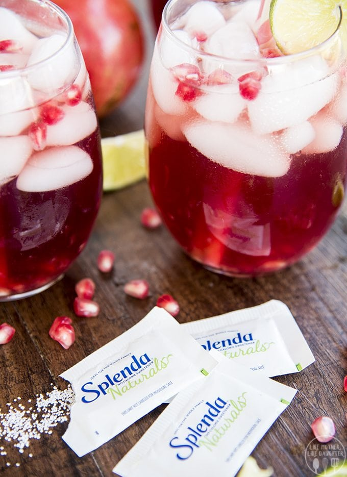 Pomegranate Lime Spritzer - This Spritzer is the perfect fall drink with minimal ingredients! Perfect for an easy and festive drink for the holidays!
