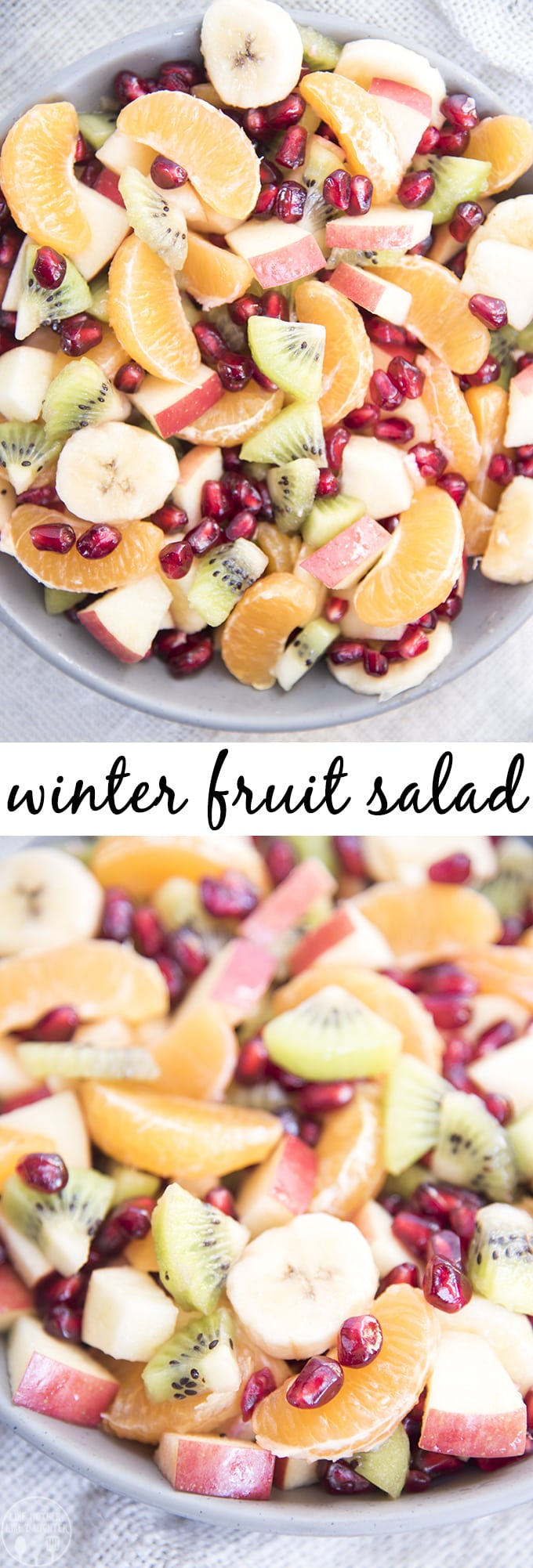 This Winter Fruit Salad Recipe loaded full of winter fruits, and is perfect for a holiday party or dinner side dish.