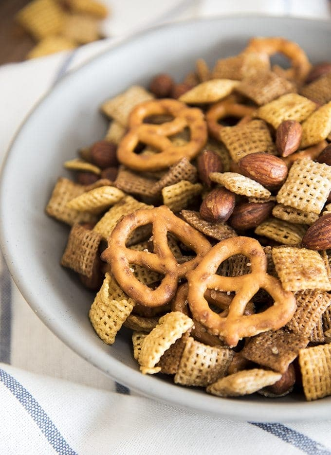 Almond chex mix Recipes is an easy savory snack mix full of so much flavor! It tastes just like the real deal!