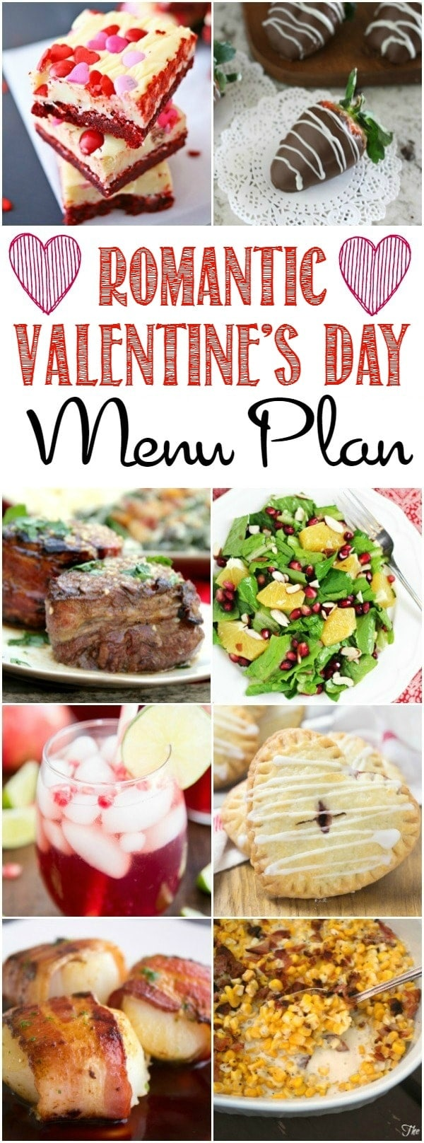 Everything you need to make a Romantic Valentine's Day dinner at home - from sparkly drinks, to chocolatey desserts, tender steak and more!