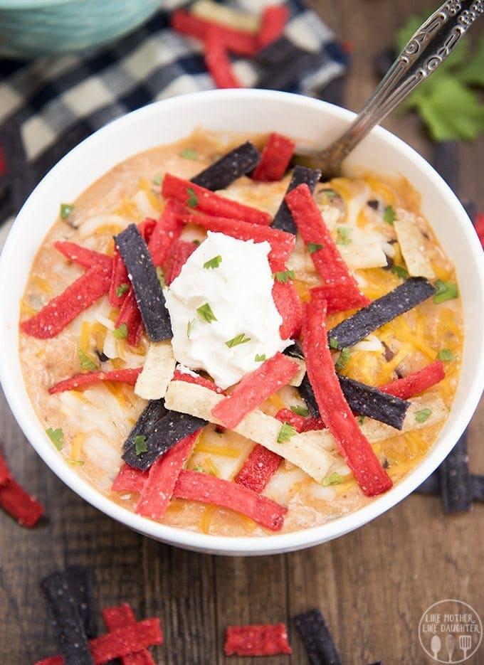 creamy chicken enchilada soup 6