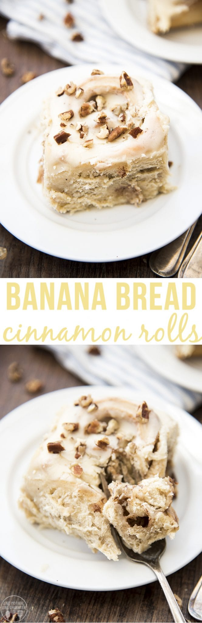 These banana bread cinnamon rolls have the perfect taste of banana throughout the soft and fluffy rolls. Topped with an amazing cream cheese frosting!