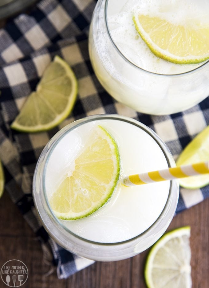 This brazilian lemonade is a delicious and refreshing limeade that is a great way to cool down in the summer!