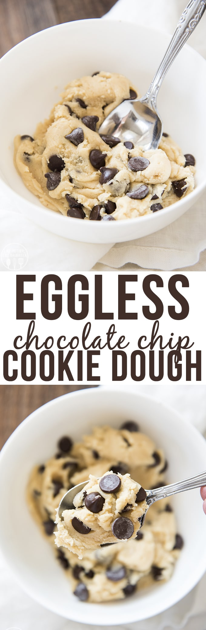 Eggless Cookie Dough for one is an edible chocolate chip cookie dough that you can whip up in minutes for a perfectly safe cookie dough treat!