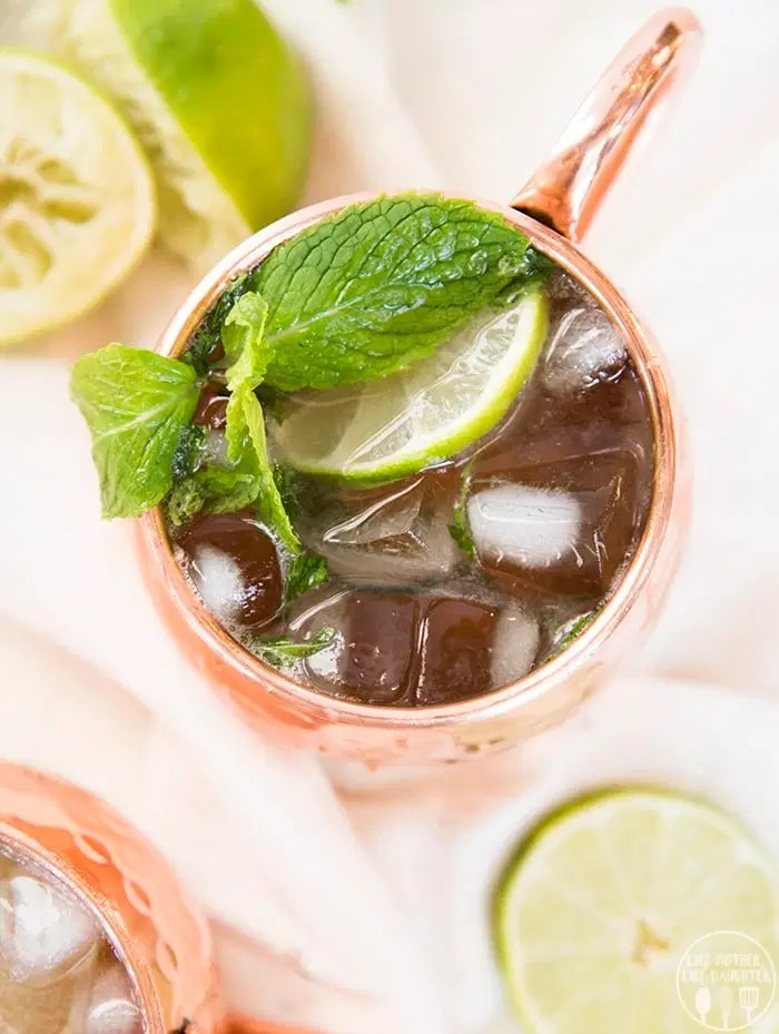 New Year's Eve Cocktails Moscow Mule Alcohol Free