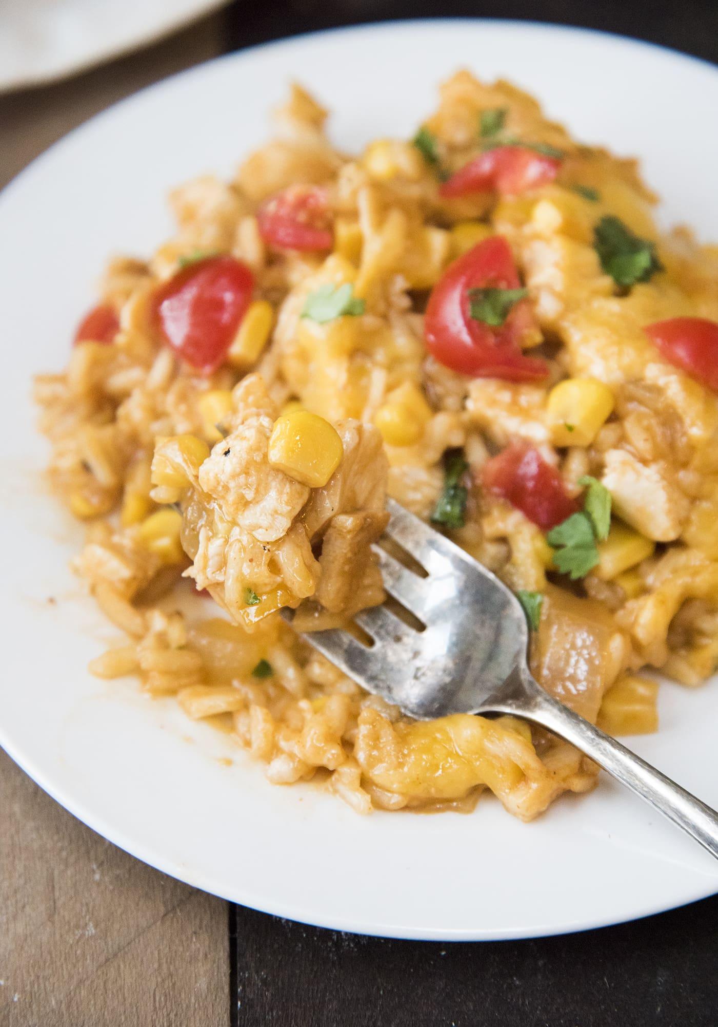 Enchilada Chicken Rice Casserole