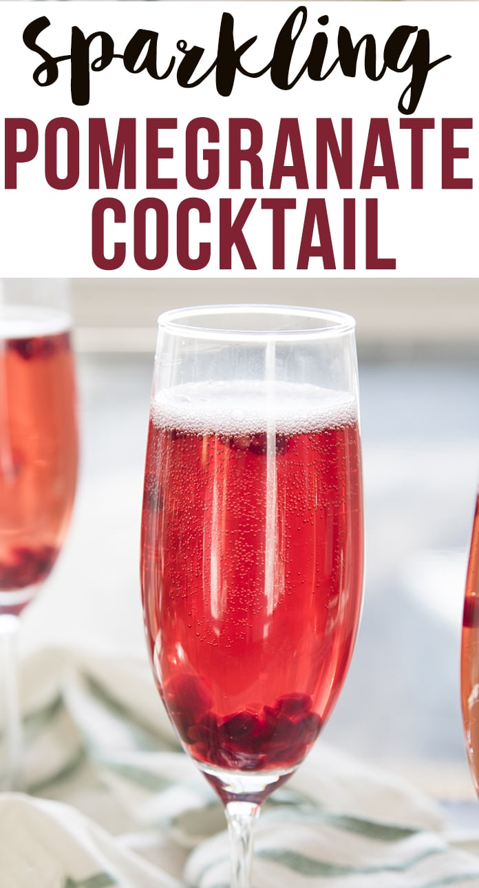 This Pomegranate cocktail is a delicious sparkling drink that is perfect for the holidays!