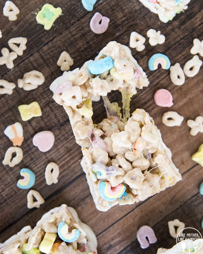 Lucky Charms Rice Crispy Treats