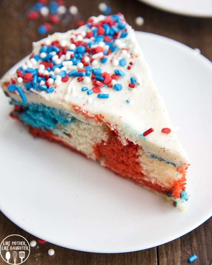 Red White And Blue Cake Like Mother Like Daughter
