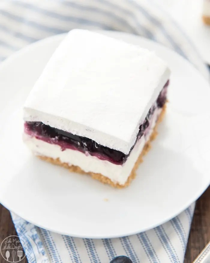 No bake blueberry cheesecake is ready in only 4 hours and is so much easier than regular cheesecake