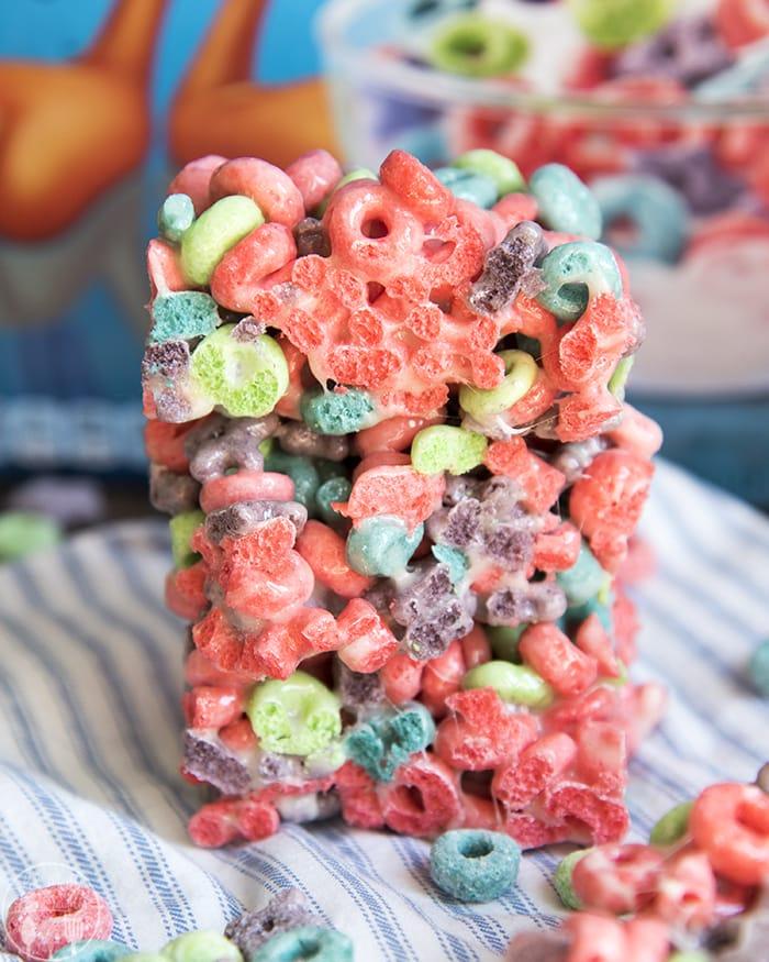 Fruit Loop Treats with Wild Berry Froot Loops Cereal