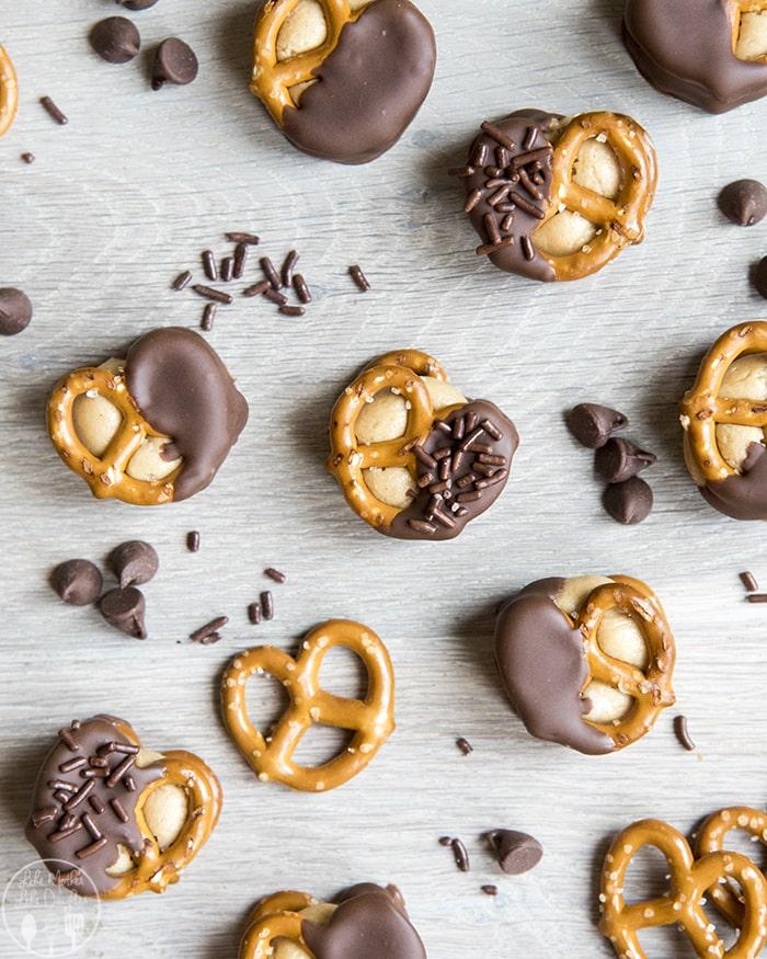 Peanut Butter Buckeye Pretzel Bites