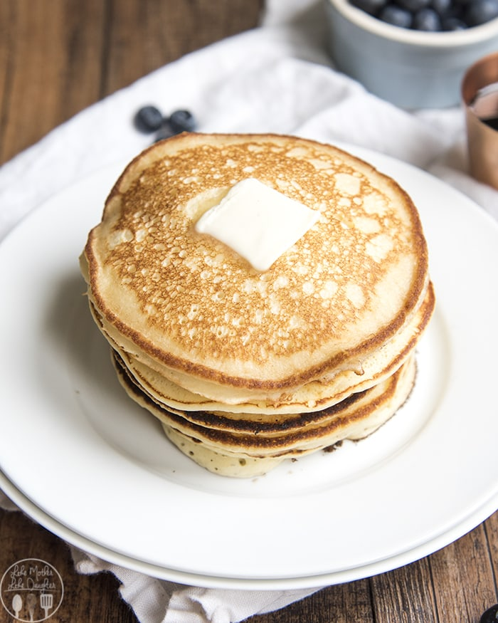 These ricotta pancakes are perfect with your favorite toppings on them!