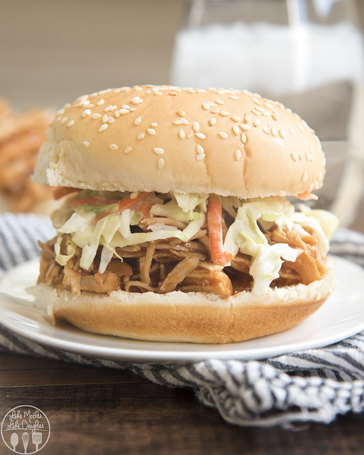 This bbq pulled chicken crock pot is so tasty and easy!