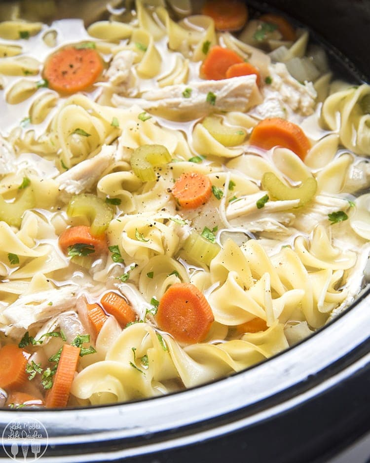Slow Cooker Chicken Noodle Soup Like Mother Like Daughter