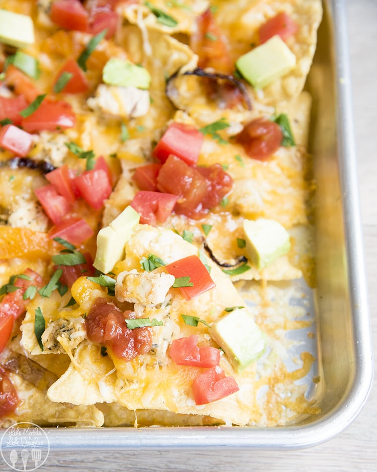Sheet Pan Nachos ready in less than 10 minutes