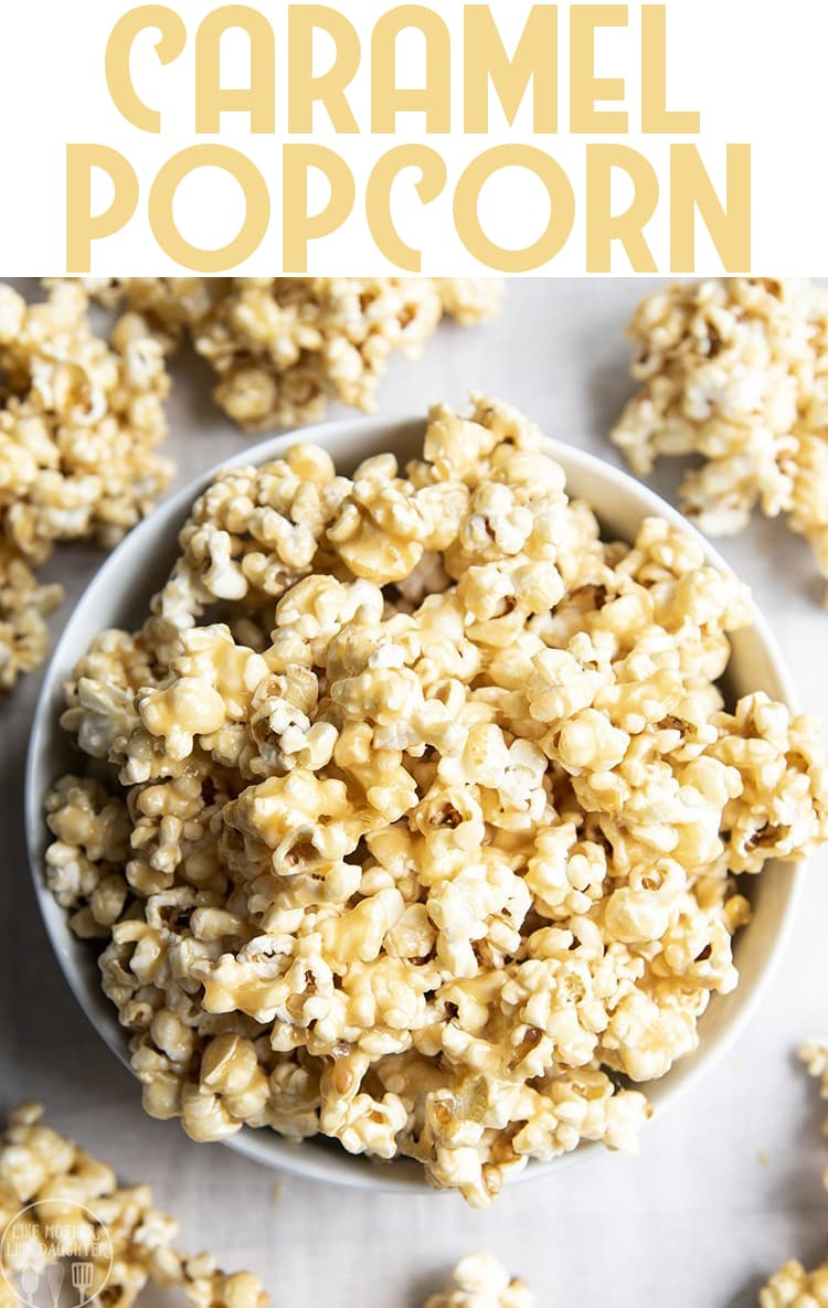 This gooey caramel popcorn is the best, with a super easy microwavable caramel coating, you won't be able to resist going back for more!
