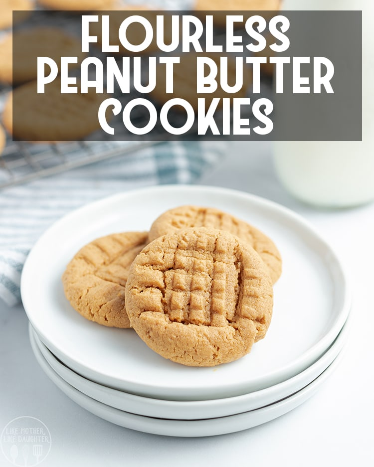 These flourless peanut butter cookies are perfect for peanut butter lovers, they're a naturally gluten free cookie, that is soft, chewy, and packed full of that peanut butter flavor we love!