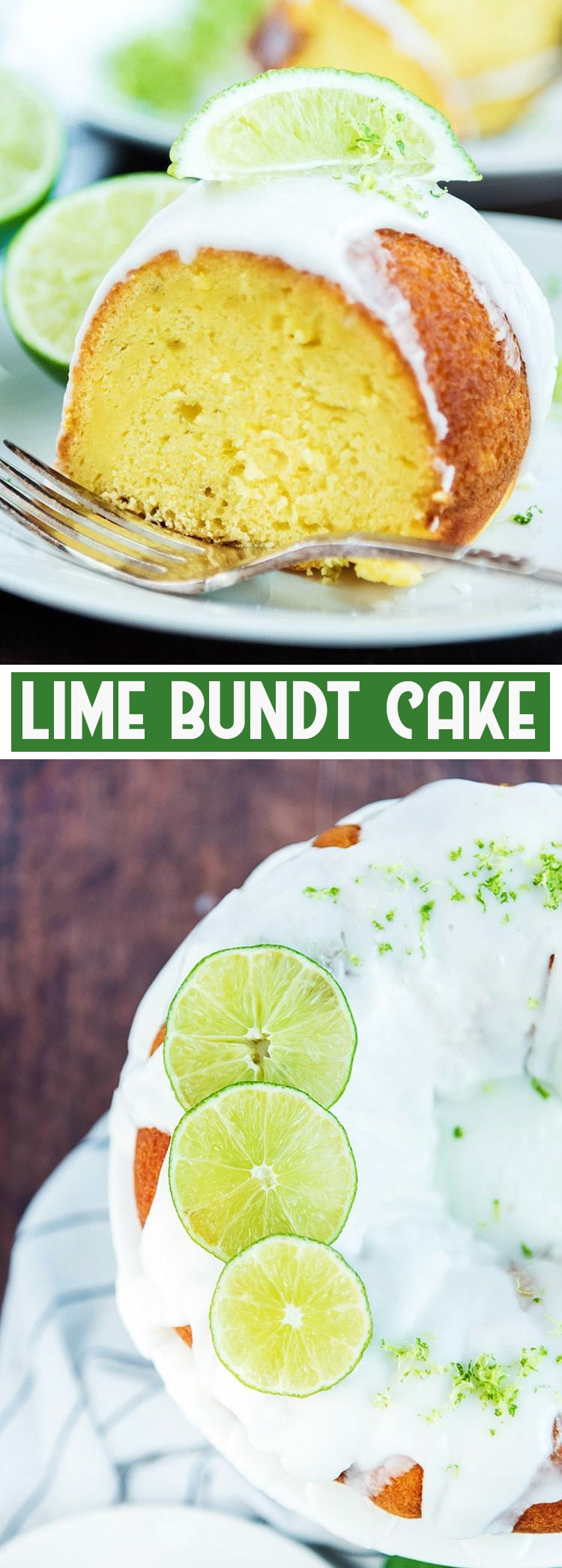 This delicious lime bundt cake starts with a boxed cake mix, with a few simple additions, making it a light and refreshing cake with the perfect hint of lime in every bite.