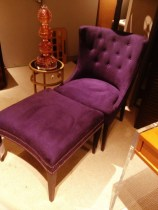Tufted chair with matching Ottoman