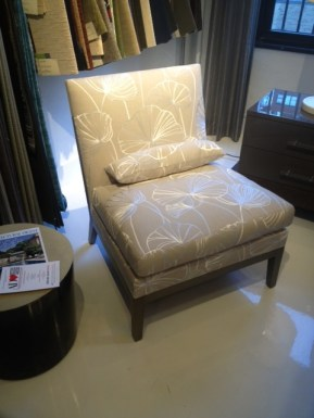 Slipper Chair I Love - the detail in the Fabric!!!