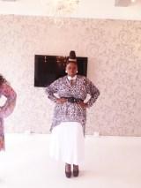 Black button Front Tunic Dress over White Long Skirt
