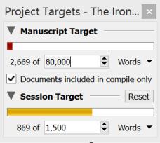 Scrivener word count