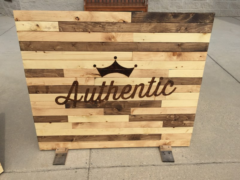 """Authentic"" 4'x3' sign"