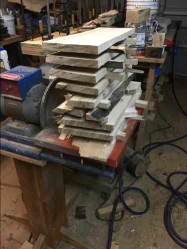 Milled Maple Boards