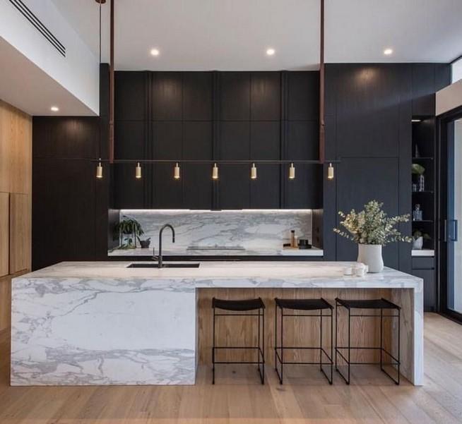 10 Stylish Black Kitchen Interior Design Ideas For Kitchen 10