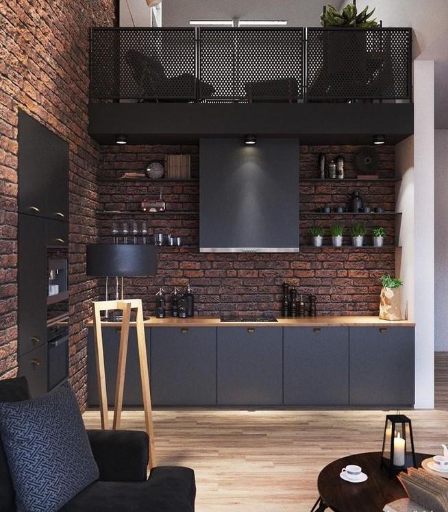 10 Stylish Black Kitchen Interior Design Ideas For Kitchen 26