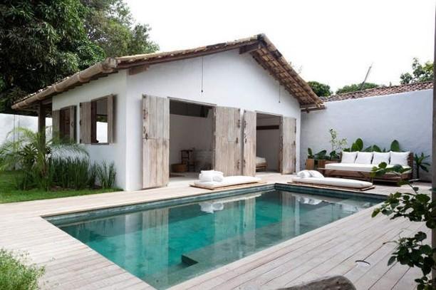 13 Casual Cabana Swimming Pool Design Ideas 48